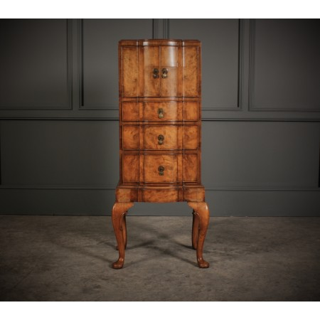 Slim Shaped Queen Anne Style Cabinet
