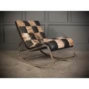 Vintage Chrome & Leather Rocking Chair