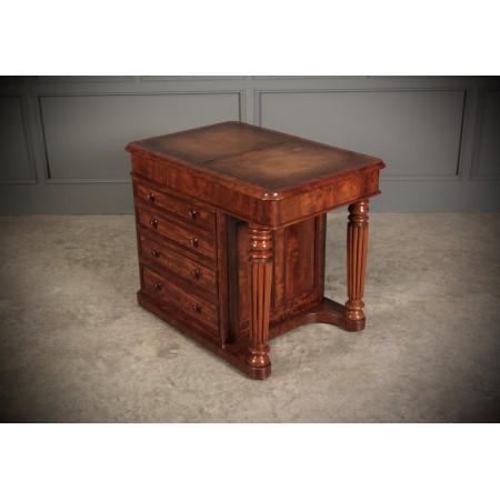 Unusual Small Victorian Mahogany Desk