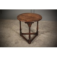 Solid Oak Cricket Table Circa 1780.
