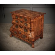 18th Century Dutch Walnut Bombe Shaped Chest