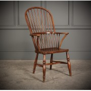 18th Century Elm Hoop Back Windsor Chair