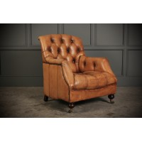 Quality Hand Dyed Leather Club Chair