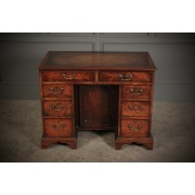 Flame Mahogany Georgian Knee Hole Desk