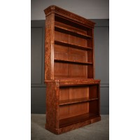 Large Burr Walnut Open Bookcase