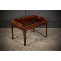 Georgian Mahogany Butlers Tray & Stand