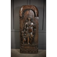Large Religious Oak Carving