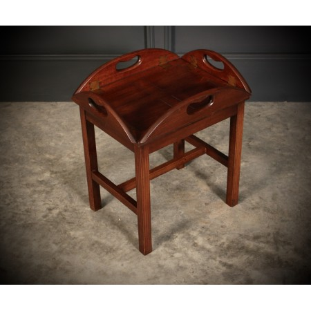 Small Mahogany Folding Butlers Tray & Stand