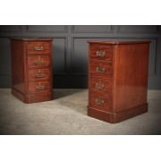 Pair of Mahogany Inlaid Bedside Chests