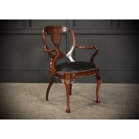 Regency Brass Inlaid Rosewood Armchair