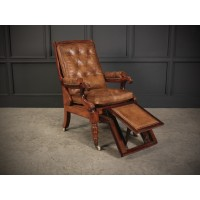 William IV Leather Reclining Bergére Armchair