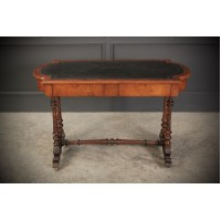 Victorian Burr Walnut Library Table