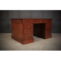 Large Early Victorian Mahogany Partners Desk