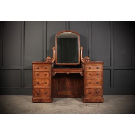 Burr Walnut Dressing Table by Garnett & Sons