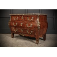 Louis XV Kingwood Bombe Shaped Commode Chest