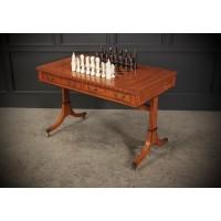 Regency Style Satinwood Games Table