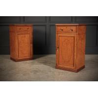 Pair of Regency Satinwood Bedside Cabinets