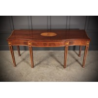 Large 7ft Regency Inlaid Mahogany Serving Table
