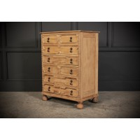 Slim Bleached Oak Geometrical Chest of Drawers