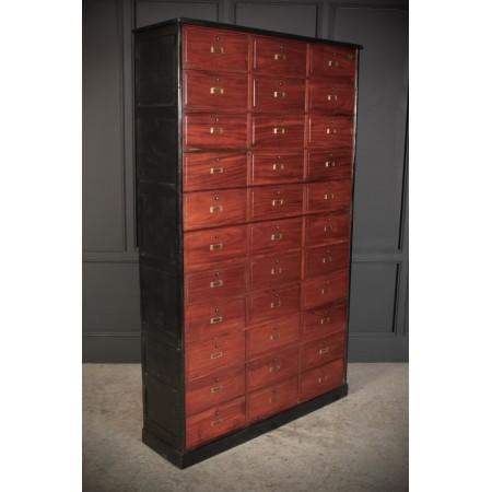 French Mahogany Lockers / Filing Cabinet