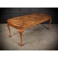 Large Figured Walnut Art Deco Dining Table