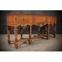 Large Impressive Carved Walnut Sideboard