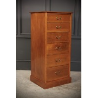 Slim Walnut Office Chest of Drawers