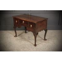 18th Century Solid Oak Lowboy