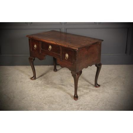 18th Century Solid Oak Lowboy