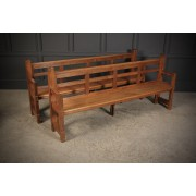 Pair of Solid Oak Arts & Crafts Benches