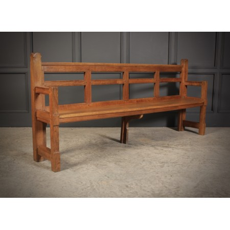 Solid Oak Arts & Crafts Bench