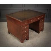 Rare Regency Mahogany Partners Desk