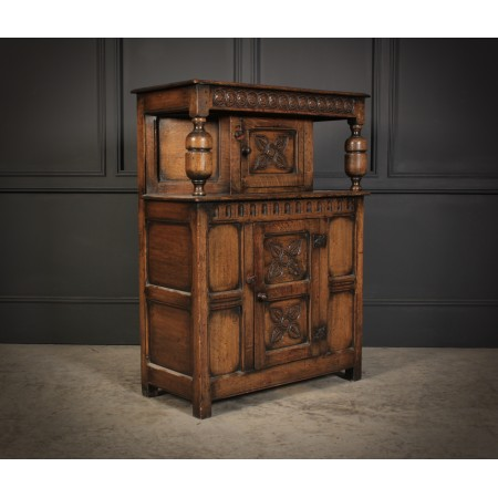 Small Ipswich Oak Court Cupboard