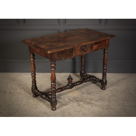 18th Century Fruitwood Hall Side Table