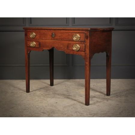 18th Century Oak Lowboy Side Table