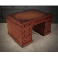 Large Victorian Mahogany Partners Desk