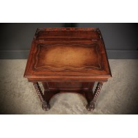 19th Century Rosewood Davenport Desk