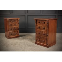 Fantastic Pair of Burr Walnut Bedsides