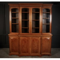 Large 4 Door Walnut Glazed Bookcase by Jas Shoolbred