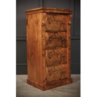 Superb Burr Walnut Wellington Chest