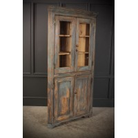 Victorian Painted Pine Corner Cupboard