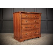 Stencilled Pitch Pine Chest of Drawers