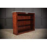 Regency Inlaid Brazilian Mahogany Open Bookcase