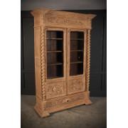 Impressive Bleached Oak Glazed Cabinet