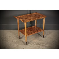 1930's Art Deco Figured Walnut Drinks Trolley