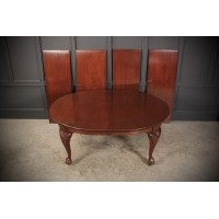 Large Chippendale Style Mahogany Extending Dining Table - 12ft x 4ft6