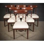 Set of 6 William IV Mahogany Bar Back Dining Chair
