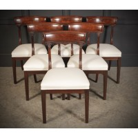 Set of 6 William IV Mahogany Bar Back Dining Chair
