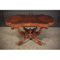 Shaped Irish Walnut Centre Table