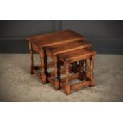 Solid Ipswich Oak Nest of 3 Tables